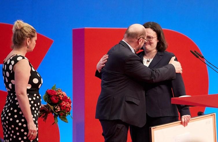 Andrea Nahles é a primeira mulher a mandar no SPD